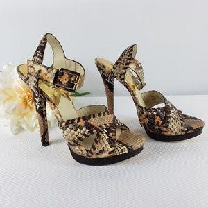 Michael Kors High Heel Shoe Pump Snake Skin 7M